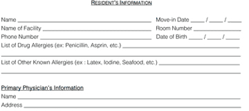 New Resident Forms